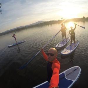 Atrakcje nad jeziorem Żywieckim, sup/paddleboard, kajaki, Sport District, Zarzecze